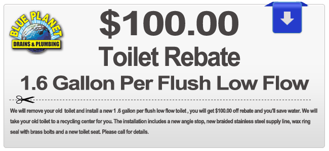 toilet installation discount coupon for Carlsbad, Chula Vista, Coronado, Del Mar, El Cajon, Encinitas, Escondido, Imperial Beach, La Mesa, Lemon Grove, National City, Oceanside, Poway, San Diego, San Marcos, Santee, Solana Beach, Vista CA