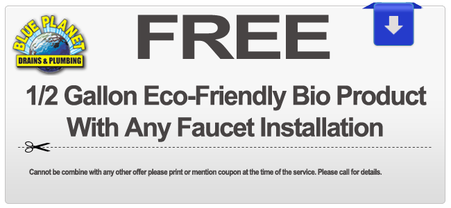 Faucet Discount Coupon for Carlsbad, Chula Vista, Coronado, Del Mar, El Cajon, Encinitas, Escondido, Imperial Beach, La Mesa, Lemon Grove, National City, Oceanside, Poway, San Diego, San Marcos, Santee, Solana Beach, Vista CA