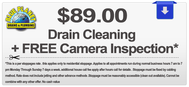Drain Cleaning Discount Coupon For Carlsbad, Chula Vista, Coronado, Del Mar, El Cajon, Encinitas, Escondido, Imperial Beach, La Mesa, Lemon Grove, National City, Oceanside, Poway, San Diego, San Marcos, Santee, Solana Beach, Vista CA